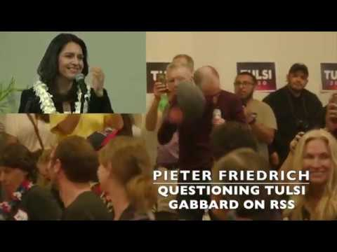 Tulsi Gabbard Questioned on RSS Financing/Relationship