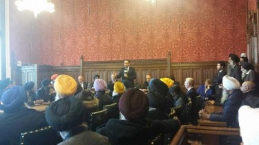 Paul Uppal MP addressing the APPG for British Sikhs