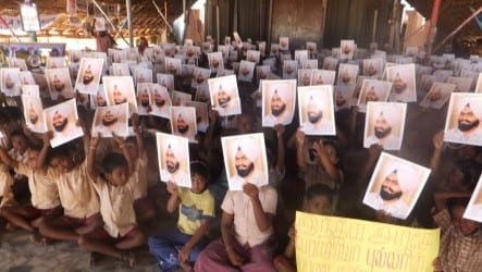 Tamil Community raising awareness of Prof. Davinderpal Singh Bhullar and other political prisoners earlier this year.