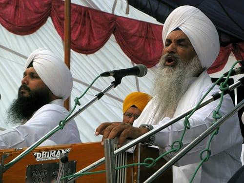Bhai Amrik Singh Zakhmi with his son Bhai Harjot Singh