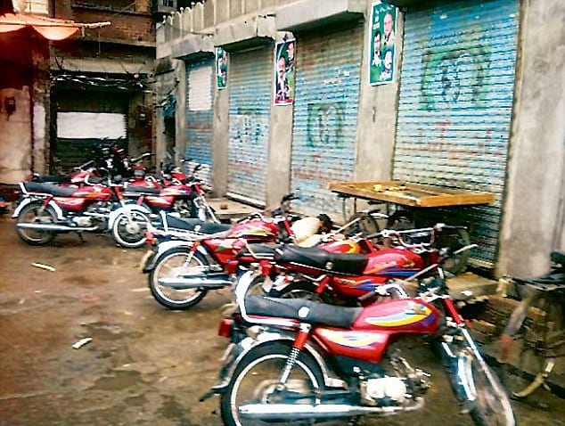 Pakistan's Waqf Board has allowed part of the historic haveli to be used as a parking lot
