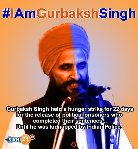 A picture circulating on social media in support of Bhai Gurbaksh Singh