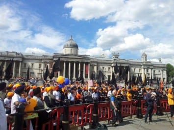 Call from Campaigners to Gather in Trafalgar Square for 1984 Sikh Genocide Anniversary and World Prisoner Solidarity Day