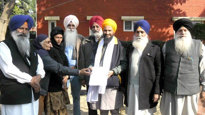Bhai Gurbaksh Singh with members of the Rehai Committee