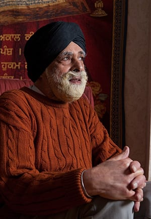 File Photo: Lord Singh at his home in Wimbledon, southwest London