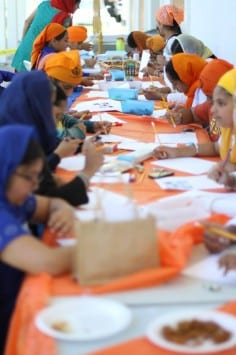 Students of Fremont Khalsa School at Annual Sikh Children Day