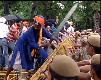 File Photo: Delhi Sikhs Protest Against Haryana Gurdwara Committee