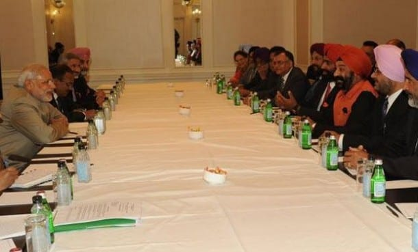 Sikh Delegations from USA and Canada Meet Narendra Modi in New York