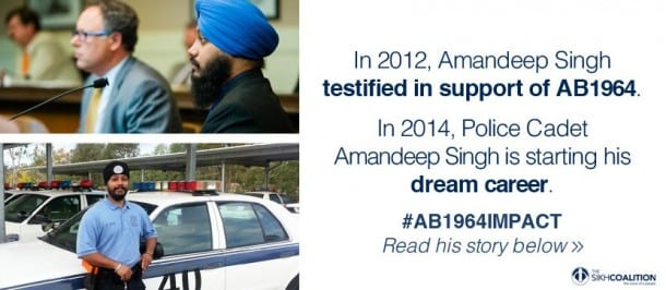 California: AB1964 Finally Allows Turbaned Sikh to Join Police Academy