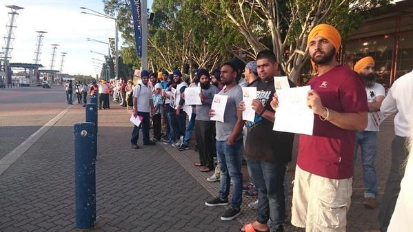 Australian Sikhs and Muslims Protest Against Modi's Sydney Visit
