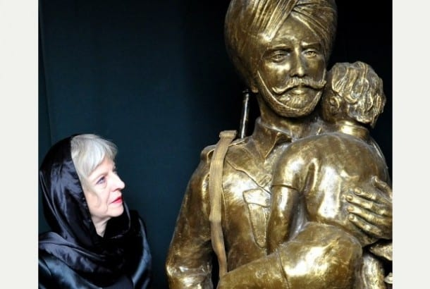 Home Secretary Unveils War Hero Statues at National Sikh Museum Derby UK