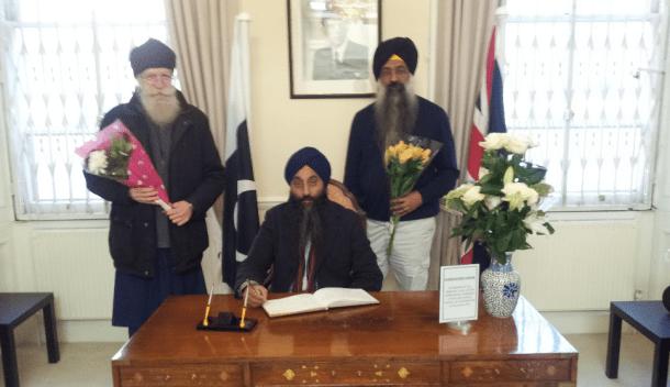 London UK: Sikh Representatives Sign Condolence Book for Victims of Peshawar Attack