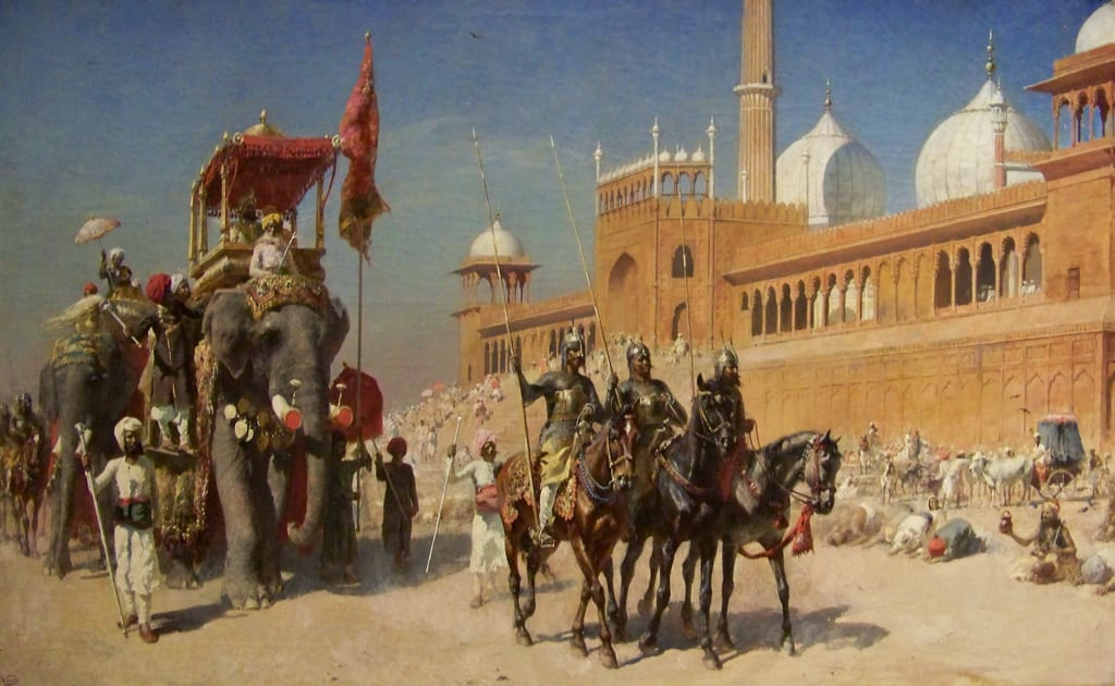 Image result for Glorifying past  of india mughal rule
