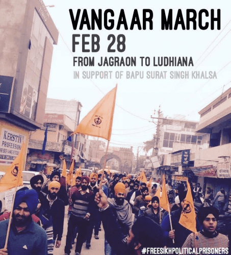 Vangar March: Large Gathering of Sikhs Seen in Jagraon in Support of Bapu Surat Singh Khalsa