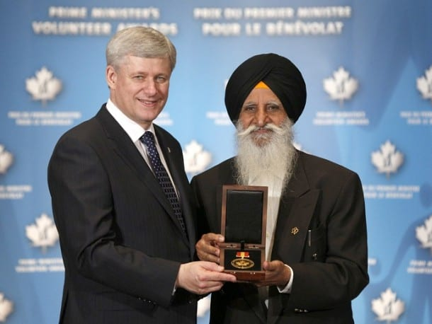 Raghbir Singh Bains Decorated With Prime Minister Volunteer Award in Canada