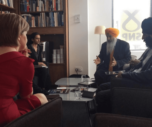 UK Sikh Leaders Discuss Sikh Manifesto With Scottish National Party Leader