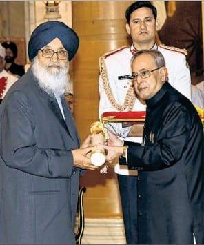 Op/Ed: What Badal did for 'Padam Vibhushan'?