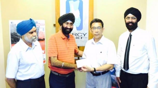 Singapore Sikh community raises S$20,000 for Nepal quake victims