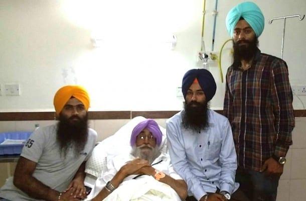 Sikh Youth Leaders Meet S. Simranjit Singh Mann at PGI Chandigarh