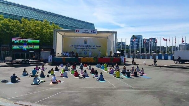 Major Embarrassment for Organizers as International Yoga Day Attracts 50 participants in Vancouver