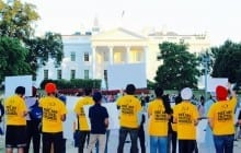 Sikh Youth Raise Awareness of Bapu Surat Singh's Struggle in front of the White House