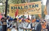 UK Sikhs and Kashmiris Stage Protest outside Indian Consulate