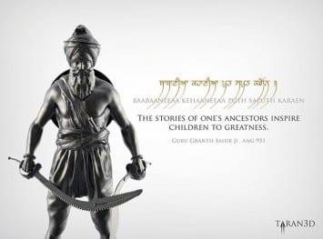 Taranjit Singh creates an inspirational hero from Sikh history, Bhai Garja Singh