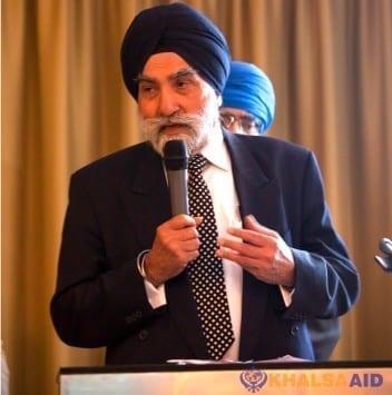 Patron for Khalsa Aid - Sir Gurmukh Singh