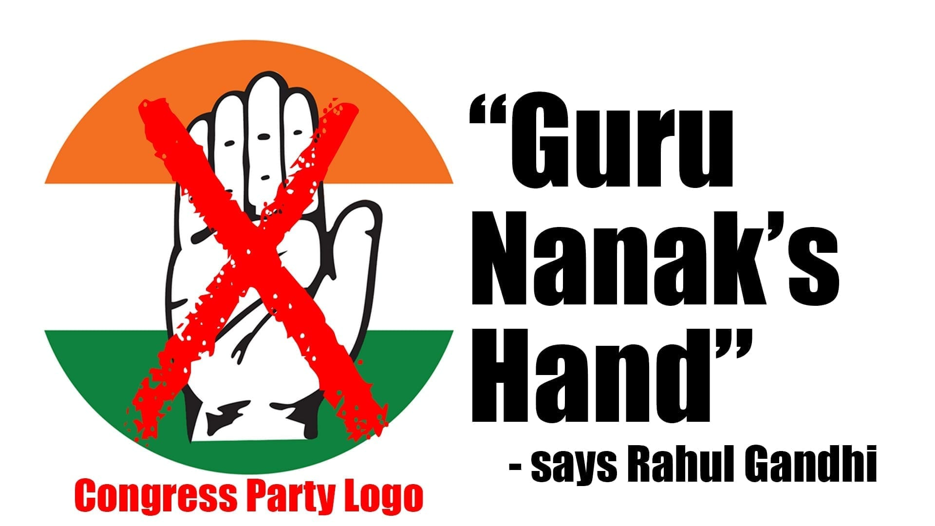 Anger As Rahul Gandhi Describes Congress Logo As Guru Nanaks Hand