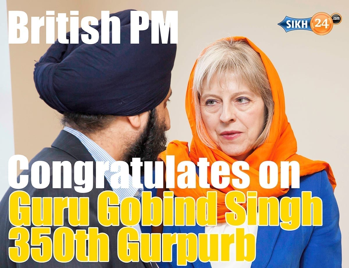 British Pm Theresa May Wishes Sikhs Happy Gurpurb On Guru Gobind