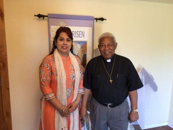 Dr. Manisha Bangar with Rev. Dr. James Mariner