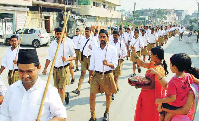 RSS Unit Marching Through a Town