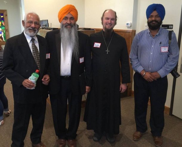 Roseville, CA priest, Fr. Joshua Lickter, with members of the Sikh and Punjabi Christian communities
