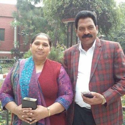 Pastor Sultan Masih with His Wife, Sarabjit