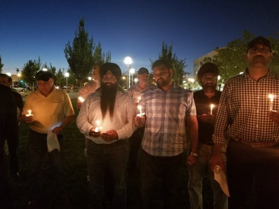 Attendees at Candlelight Vigil for Sultan Masih