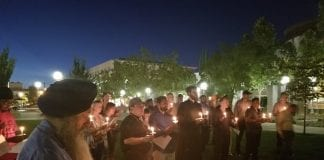 Attendees at Candlelight Vigil