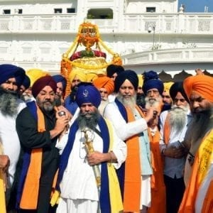 Religious procession begins from Sri Akal Takht Sahib to