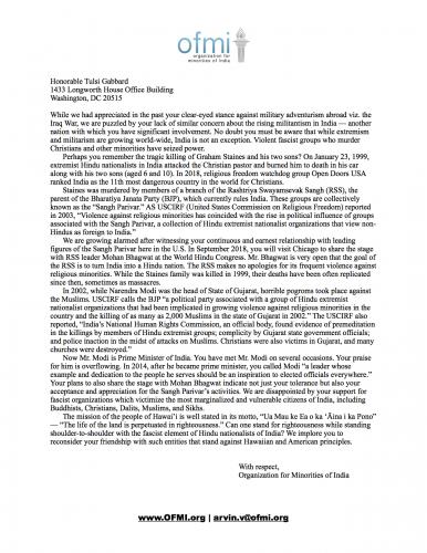 Tulsi Gabbard challenged on Hindutva links