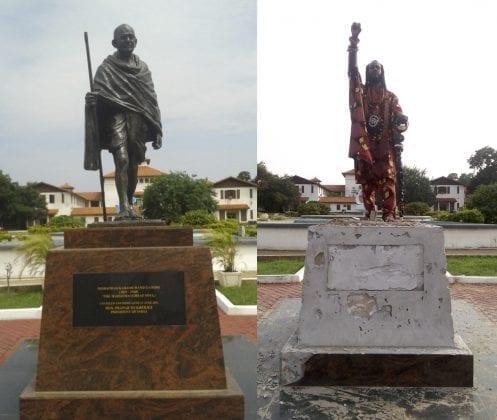 obadele kambon - ghana gandhi statue