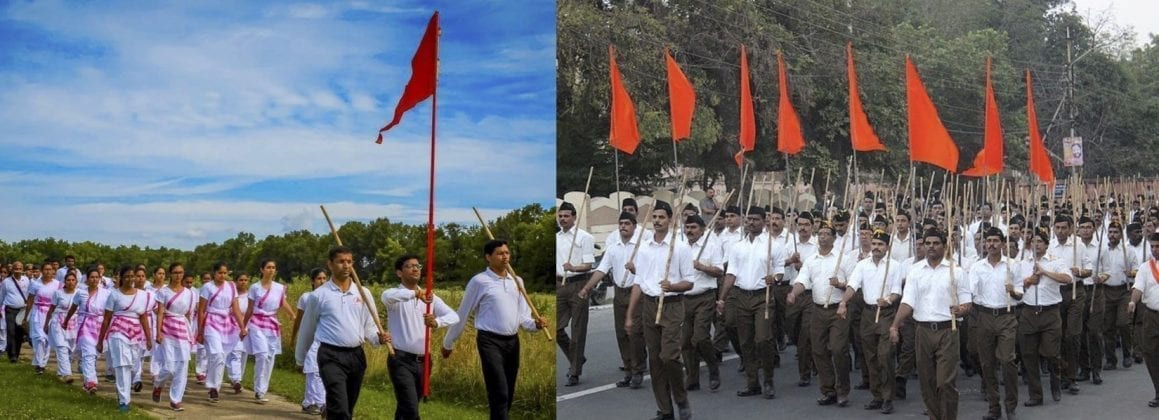 rss - hss - march - saffron flag - sangh