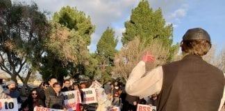 Friedrich speaks at CAB protest in Santa Clara, CA on 15 December