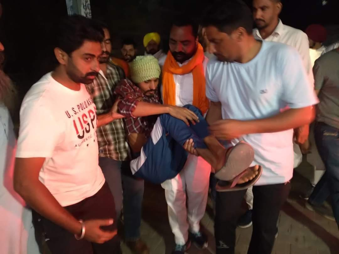 Appeal by Lakha Sidhana after his brother was mercilessly beaten by the  Delhi Police | Sikh24.com