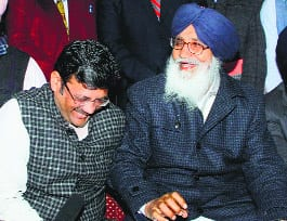 While interacting with media persons, Parkash Badal and BJP state president Kamal Sharma seems to laugh at the fate of Sikhs
