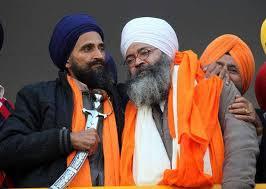 A file photo of Bhai Gurmeet Singh with Bhai Gurbakhash Singh Khalsa