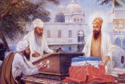 Guru Arjan and Bhai Gurdas